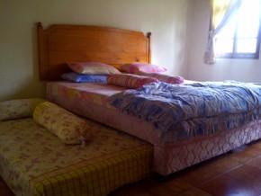 Tempat tidur ini mempunyai kasur sorong disisi kiri dan kanannya.